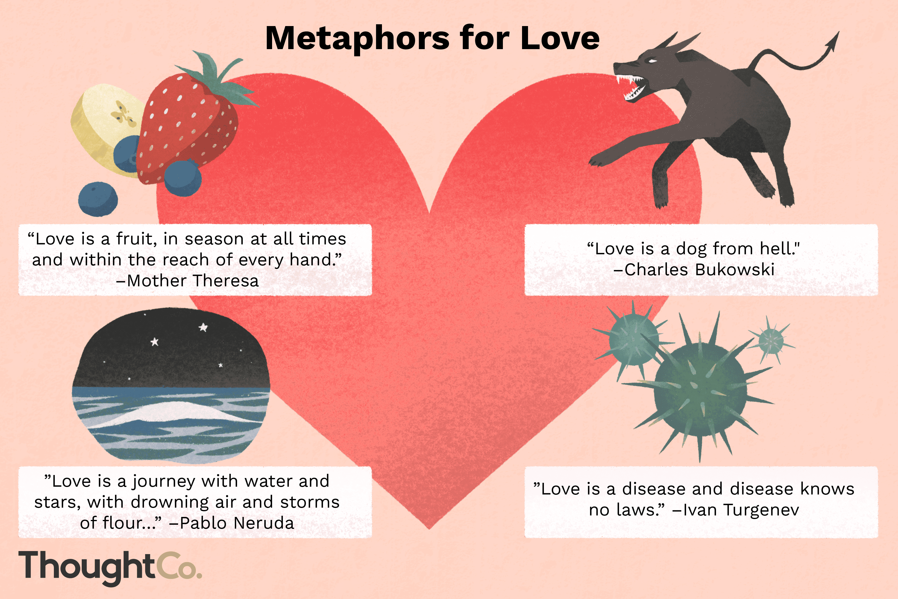 Love Metaphors From Literature and Pop Culture