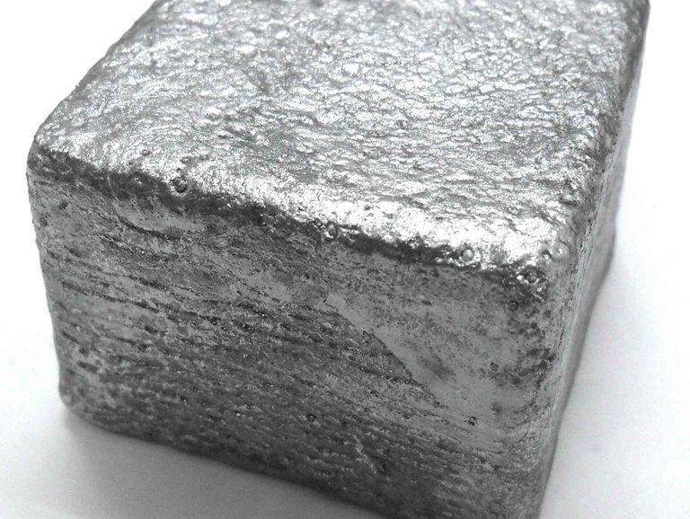 A tellurium metal ingot