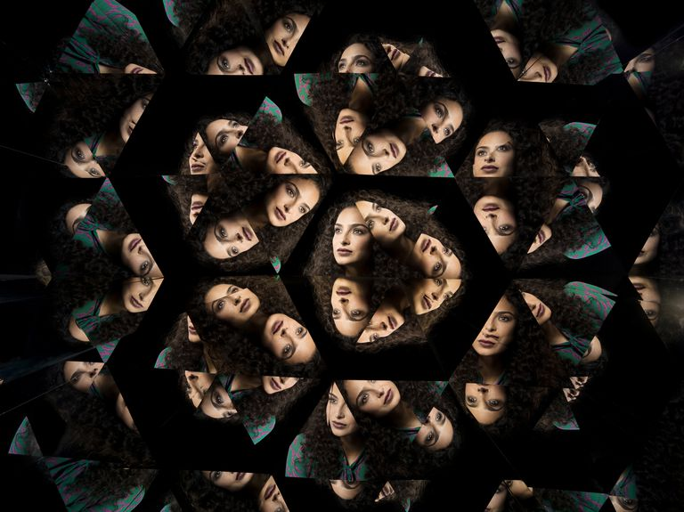 Kaleidoscope portraits of a female