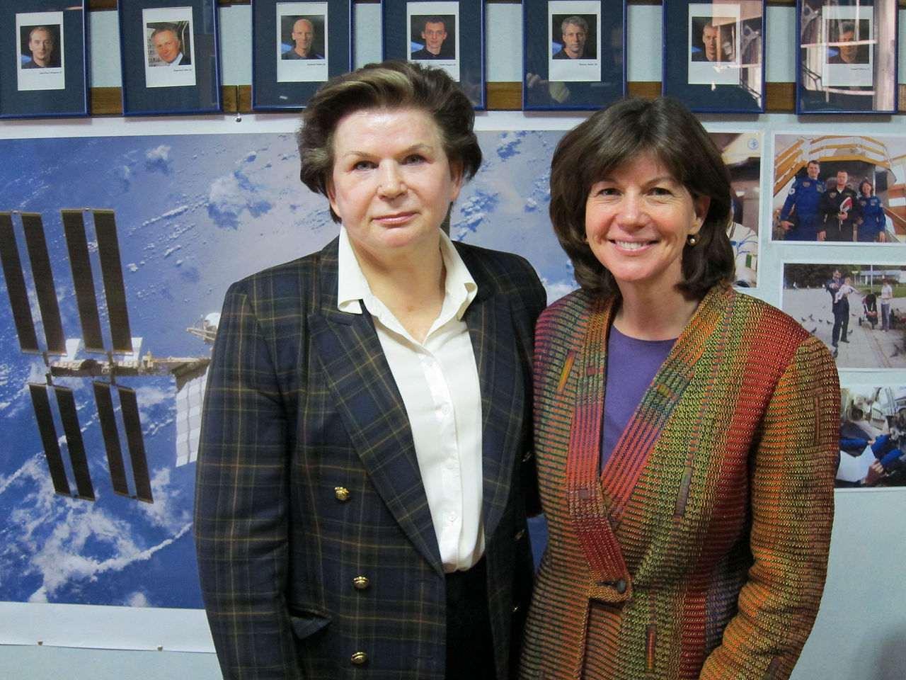 Valentina Tereshkova and Cady Coleman.