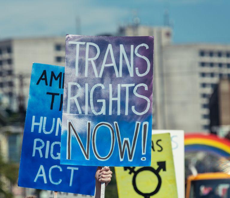 Trans Rights activist sign