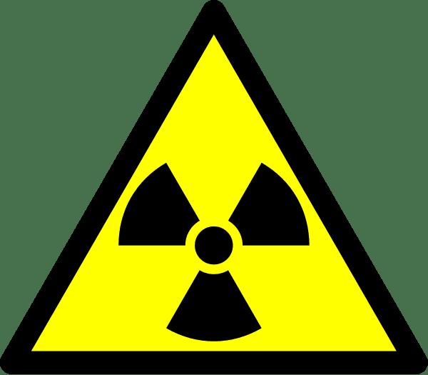 Lab safety signage, radioactive hazard