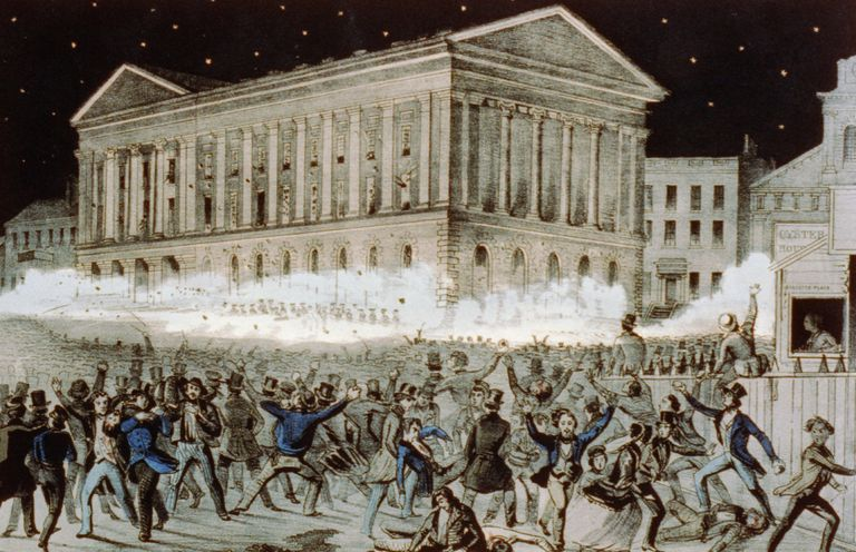 Illustration of the Astor Place Riot of 1849