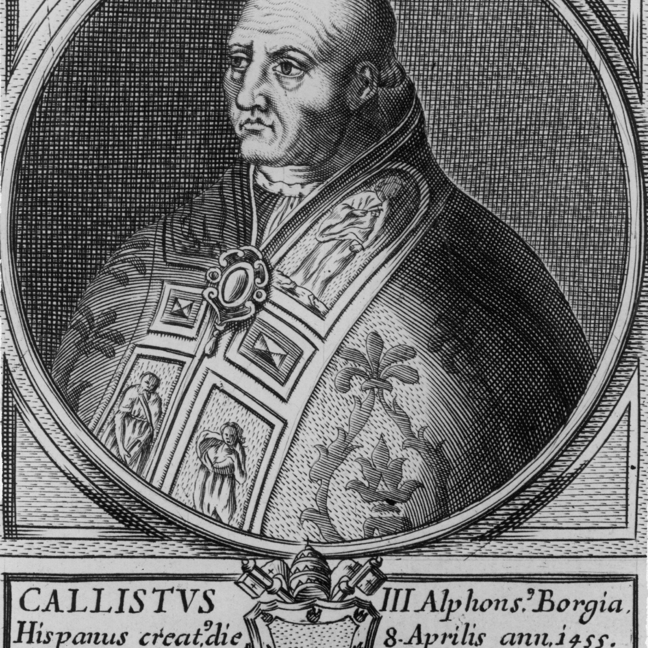 Illustrated portrait of Calixtus III