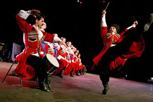 A performance of traditional Cossack song and dance