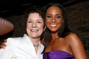 Sue Monk Kidd (left) with Alicia Keys