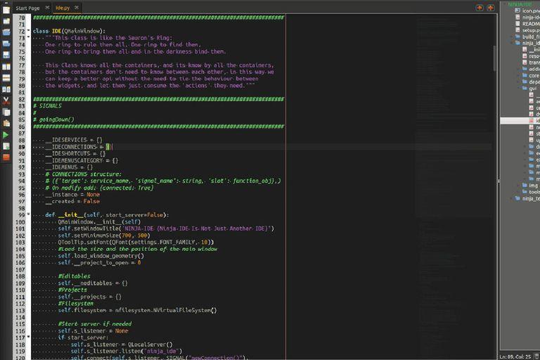 IDE screenshot