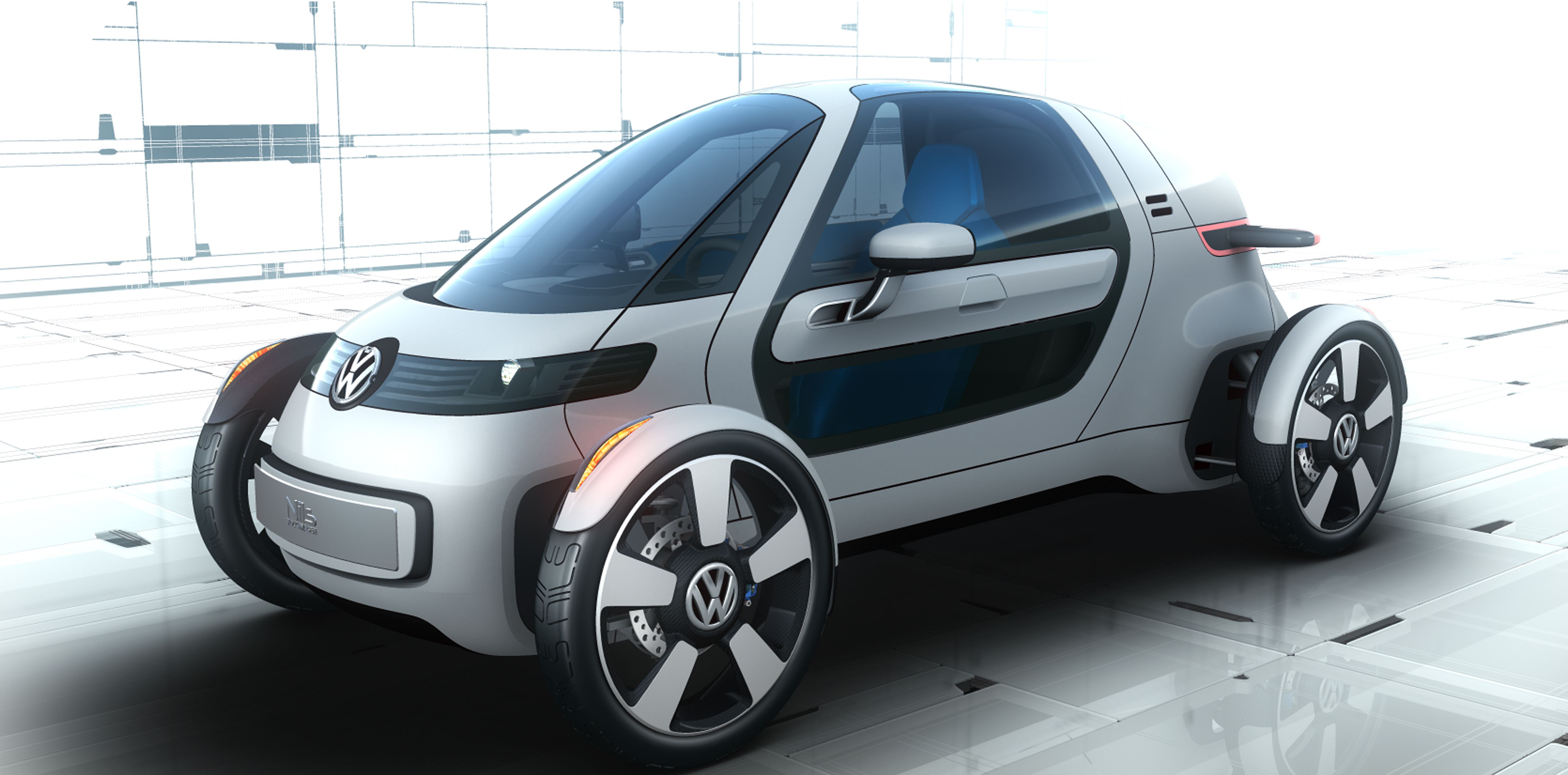 The Volkswagen Nils Is An Electric Commuter Car For Urban World Of Future
