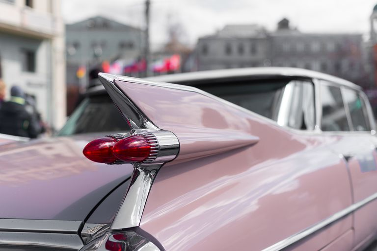 Close-Up of Vintage Car on Taillight