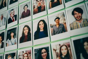 polaroid photos of different people