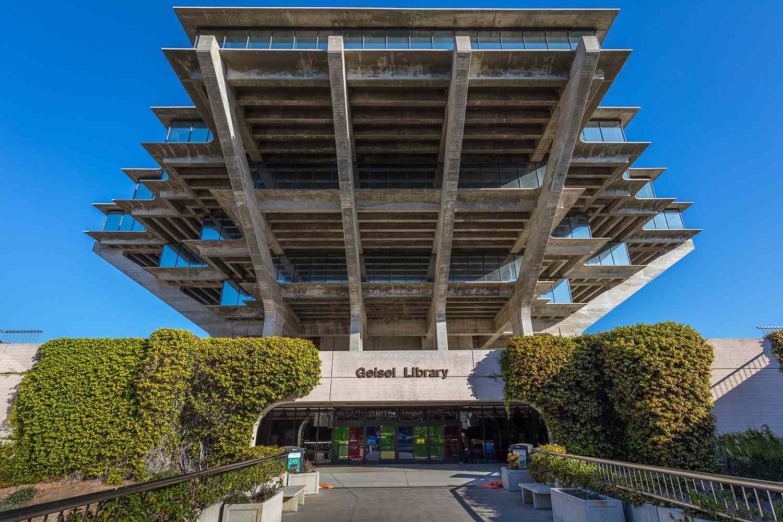 Icon building of University of California San Diego