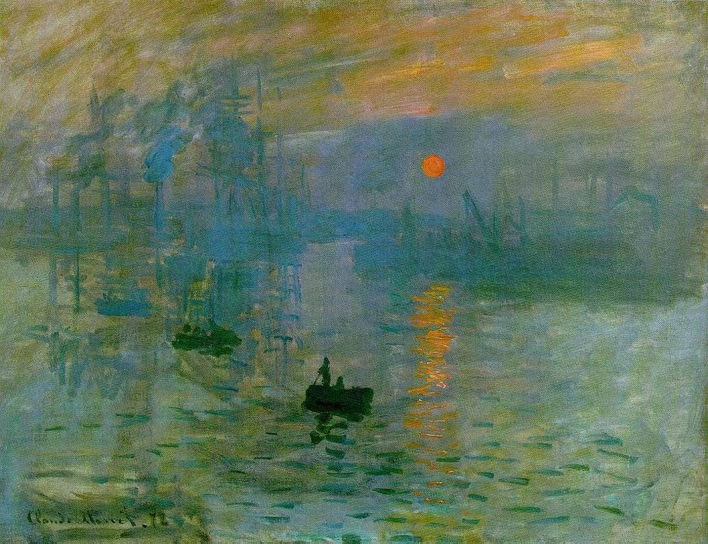 Claude Monet (French, 1840-1926). Impression, Sunrise, 1873. Oil on canvas. 48 x 63 cm (18 7/8 x 24 13/16 in.).