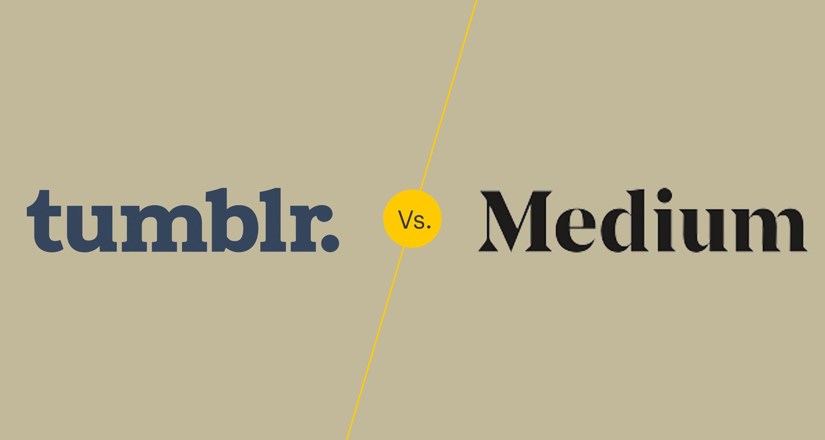 Tumblr vs Medium