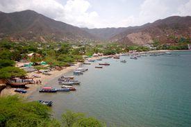 A Columbian fishing village