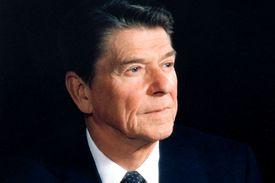 Ronald Reagan in three quarter profile