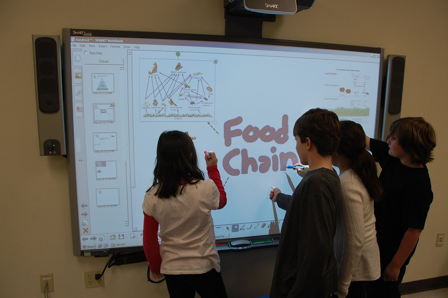 SMART Board in action