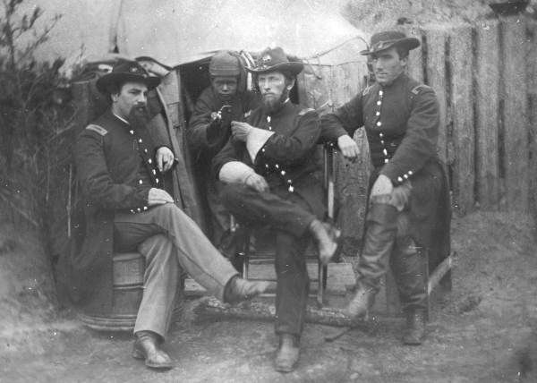 Members of the 75th Ohio Infantry in Jacksonville