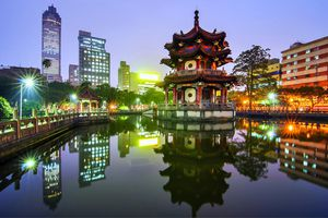 A beautiful picture of Peace Park in Taipei, Taiwan