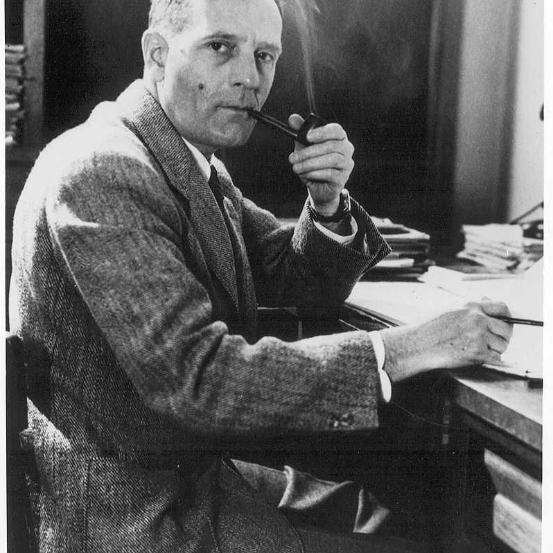 Edwin P. Hubble, the astronomer who used the Mount Wilson 100-inch telescope to observe distant galaxies. His work led to the discovery of the expanding universe.
