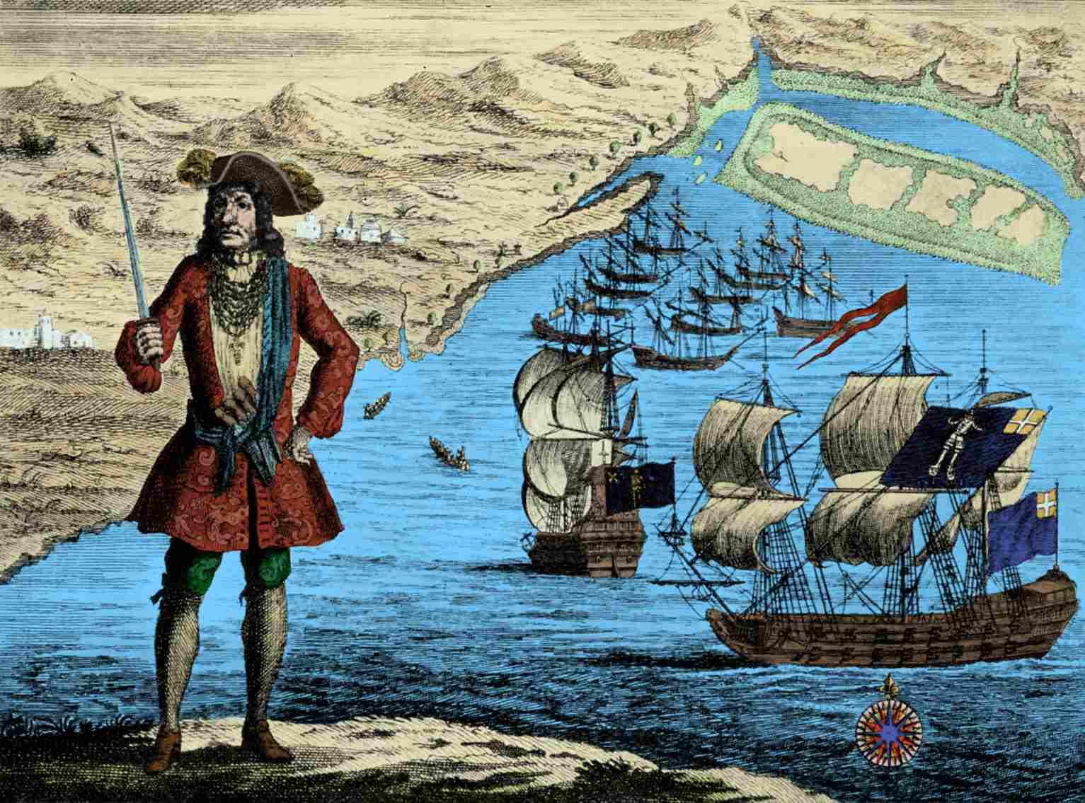Captain Bartholomew Roberts, engraving.