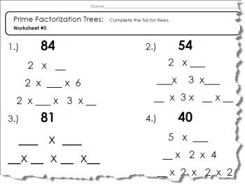 Prime factor tree worksheet 1 of 5 pdf and answers prime factor tree worksheet ibookread Download