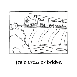 Homeschooling - Trains Coloring Book