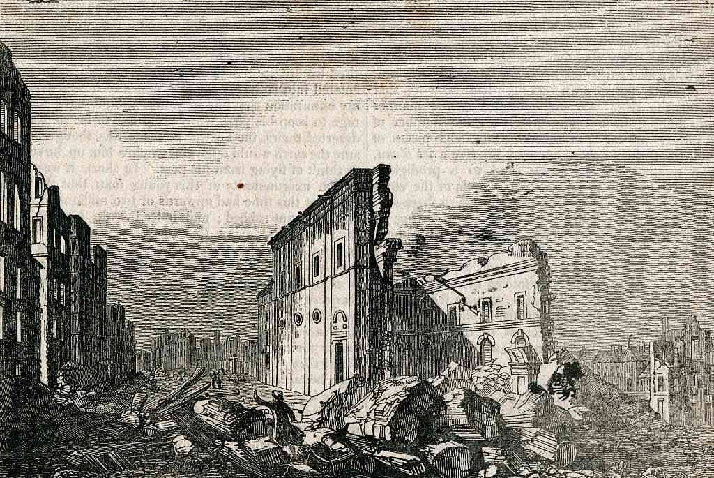 Aftermath of the Great Lisbon Earthquake in 1755