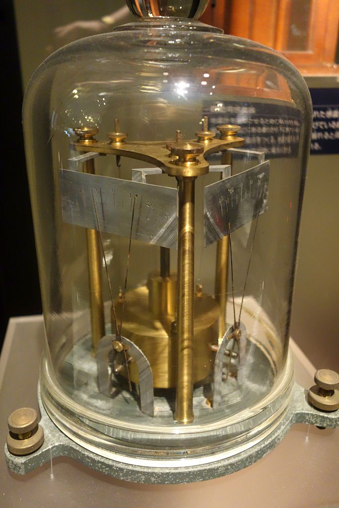 Milne's seismoscope (1890) replica - National Museum of Nature and Science, Tokyo