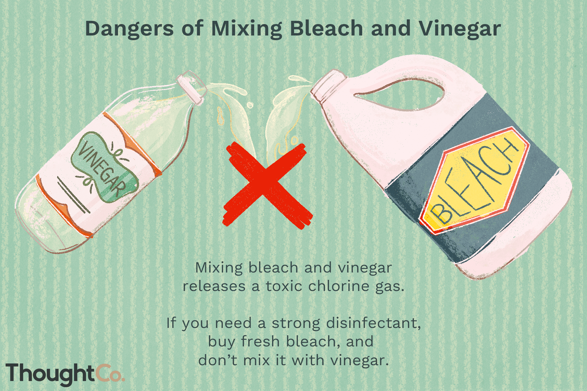 Why You Shouldn't Mix Bleach and Vinegar