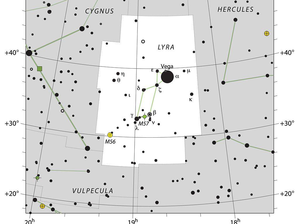 La constelación de Lira contorno de la UAI.