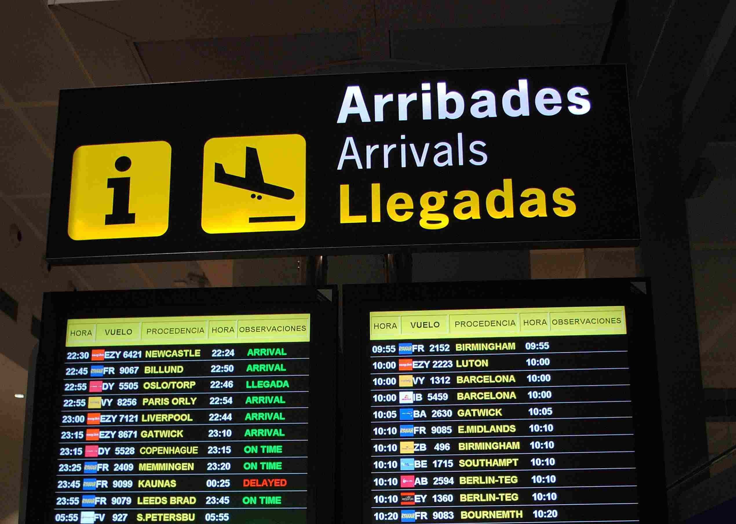 airport in Barcelona, Spain