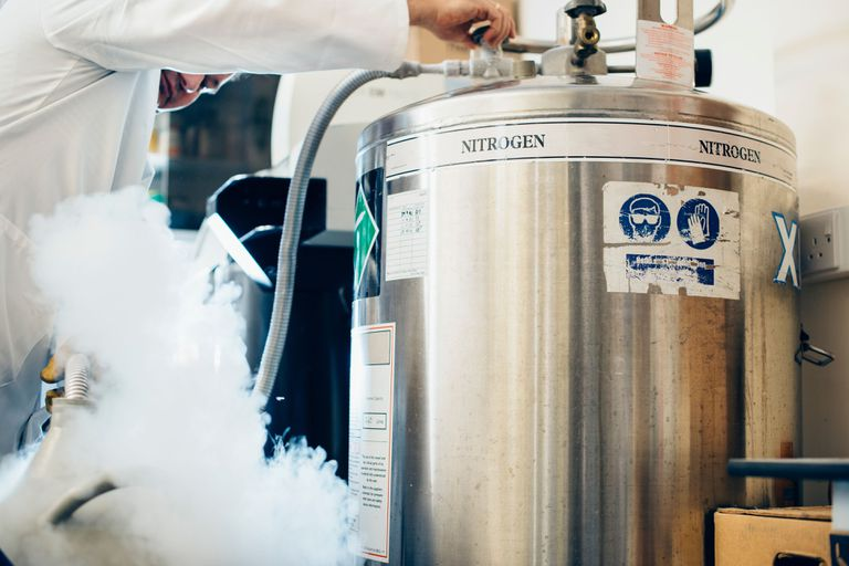 Cannister of liquid nitrogen