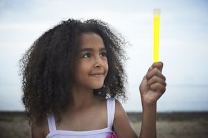 Temperature affects how brightly a glow stick glows and how long it lasts.