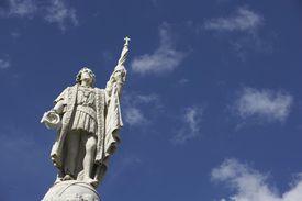 Puerto Rico, Old San Juan, Christopher Columbus Statue in Plaza De Colon