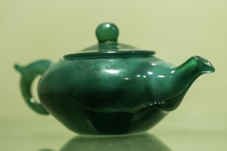 Tea pot of precious jade, Huahai Jade Museum, Xi'an, China