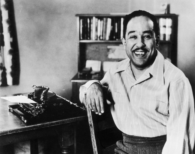 Poet and writer Langston Hughes