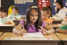 Little Girl in Math Class