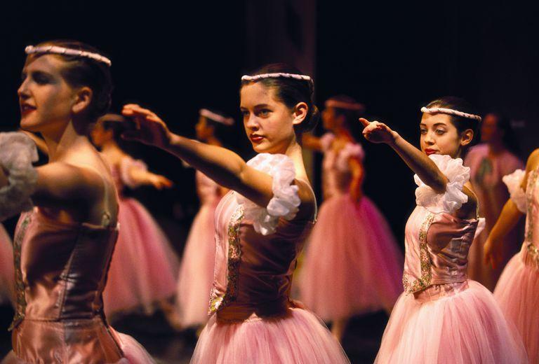 Ballet Dancers Practicing the Nutcracker Ballet