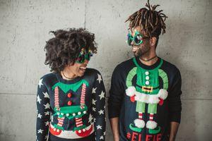 Funny Christmas couple
