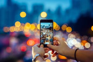 The View Through a Smartphone Camera Symbolize's the Definition of Ideology