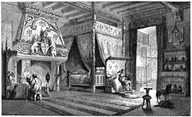 Dwelling room of a seigneur of the 14th century