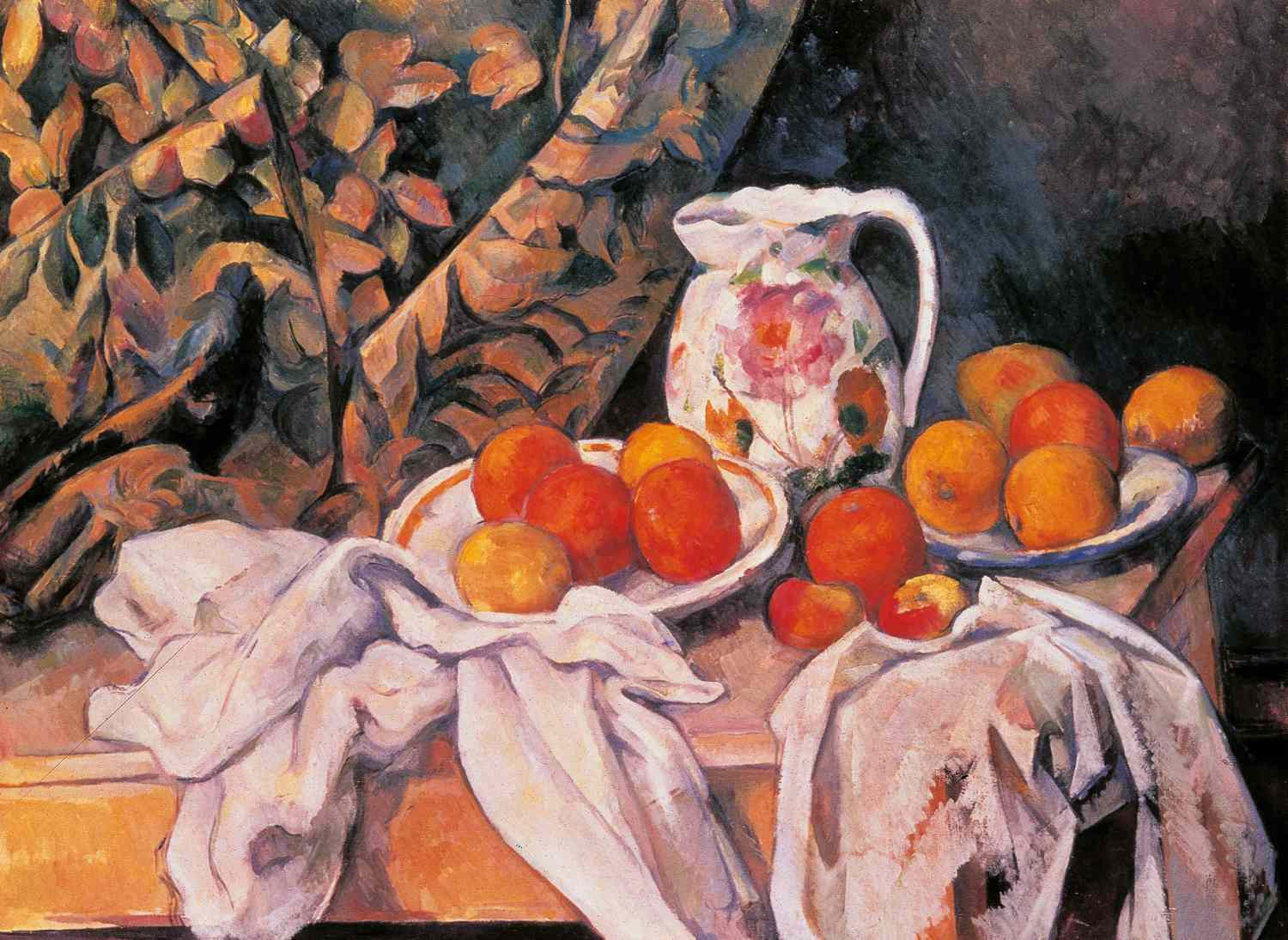 cezanne still life with drape and jug