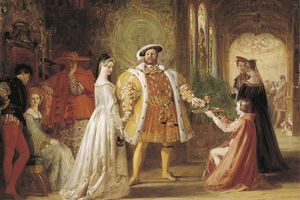 First meeting of King Henry VIII and Anne Boleyn.