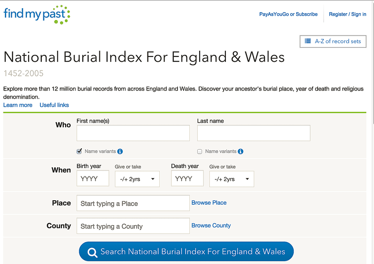 10 Places to Start Your Search for Online Death Records