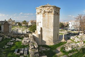 The Tower of the Winds in Athens.
