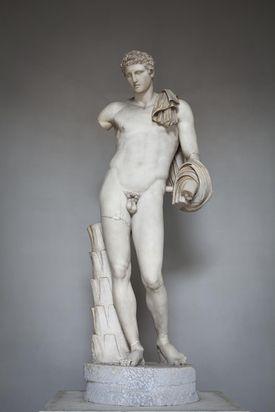 The Belvedere Hermes, Vatican museum, Rome, Italy
