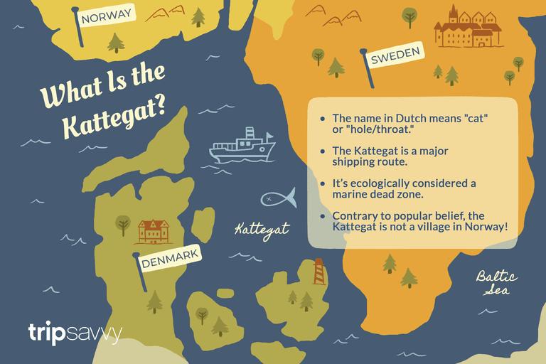 Map of the Bay of Kattegat
