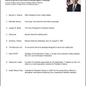 Barack Obama Vocabulary Study Sheet