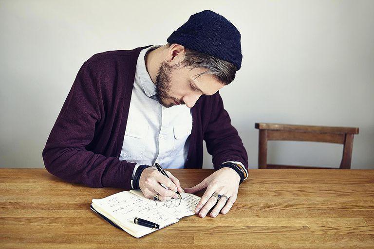 Young Man Journaling