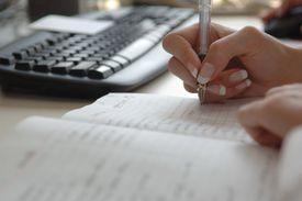 Busy businesswoman's schedule